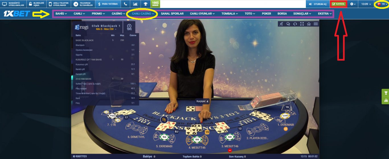 onebahis 1xBet casino